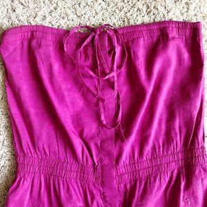 Theory | Strapless Linen Dress